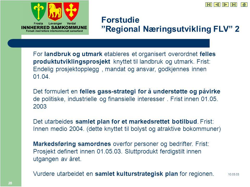 10.03.03 28 For landbruk og utmark etableres et organisert overordnet felles produktutviklingsprosjekt knyttet til landbruk og utmark.