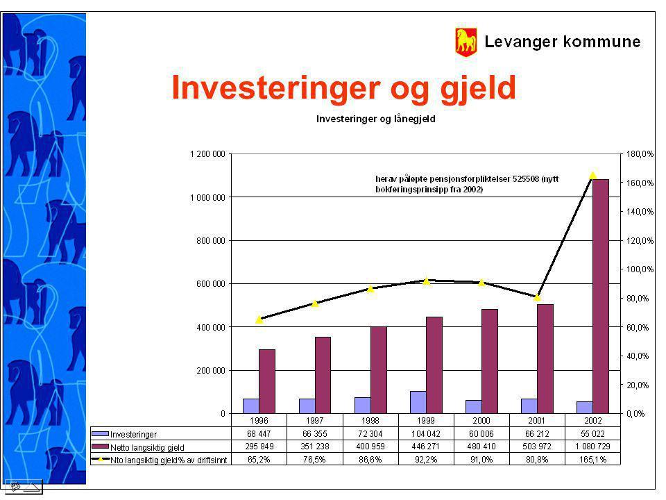 Investeringer og gjeld