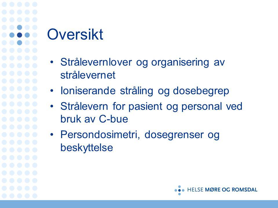 Prinsipper for strålebeskyttelse Tid Avstand Skjerming Tatt fra A. Widmark, NRPA