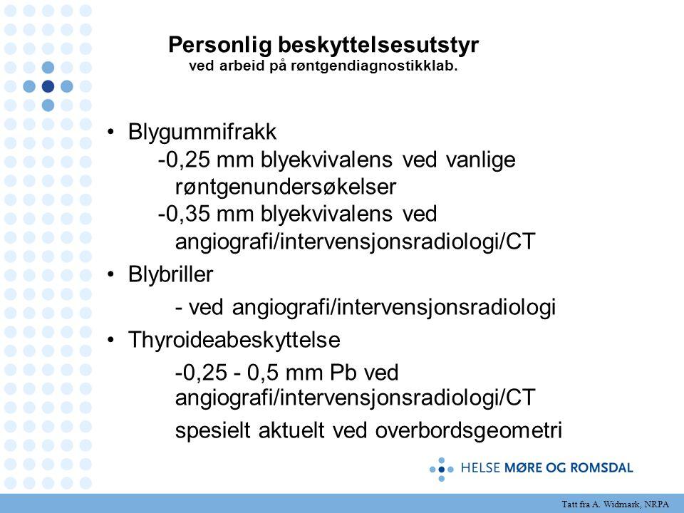 Personlig beskyttelsesutstyr ved arbeid på røntgendiagnostikklab. Blygummifrakk -0,25 mm blyekvivalens ved vanlige røntgenundersøkelser -0,35 mm blyek