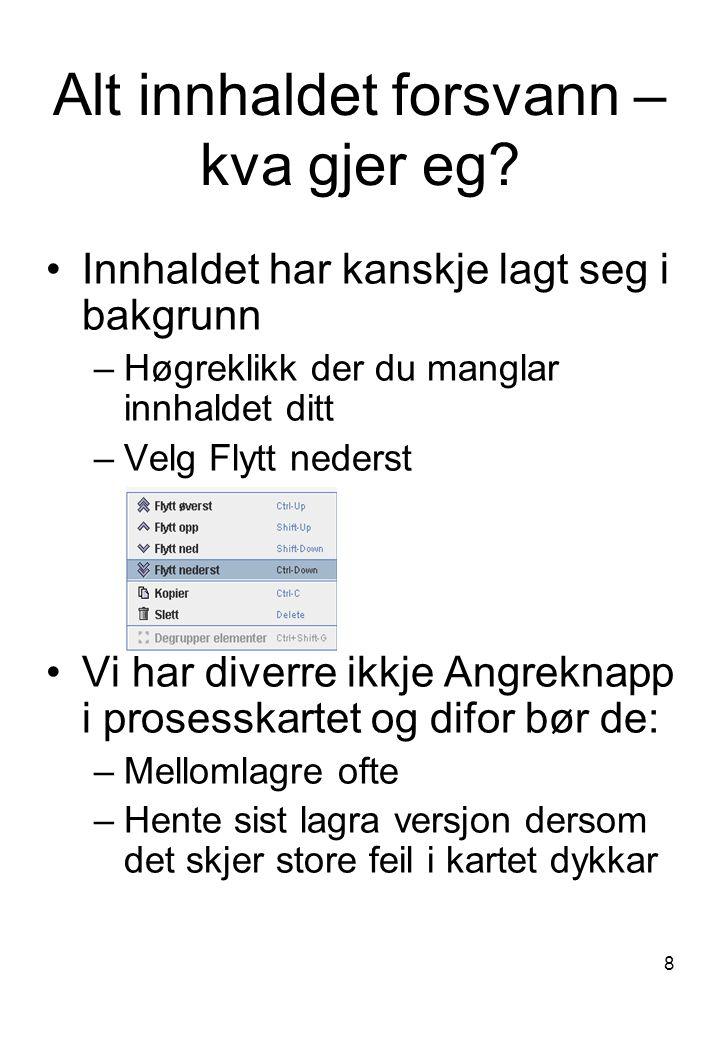 9 Behov for hjelp.Kontakt kvalitetsrådgivere ved Fagavdelinga HMR-HF: Unni Arnestad, tlf.