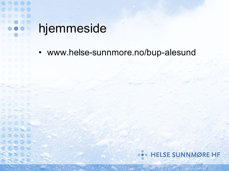 hjemmeside www.helse-sunnmore.no/bup-alesund