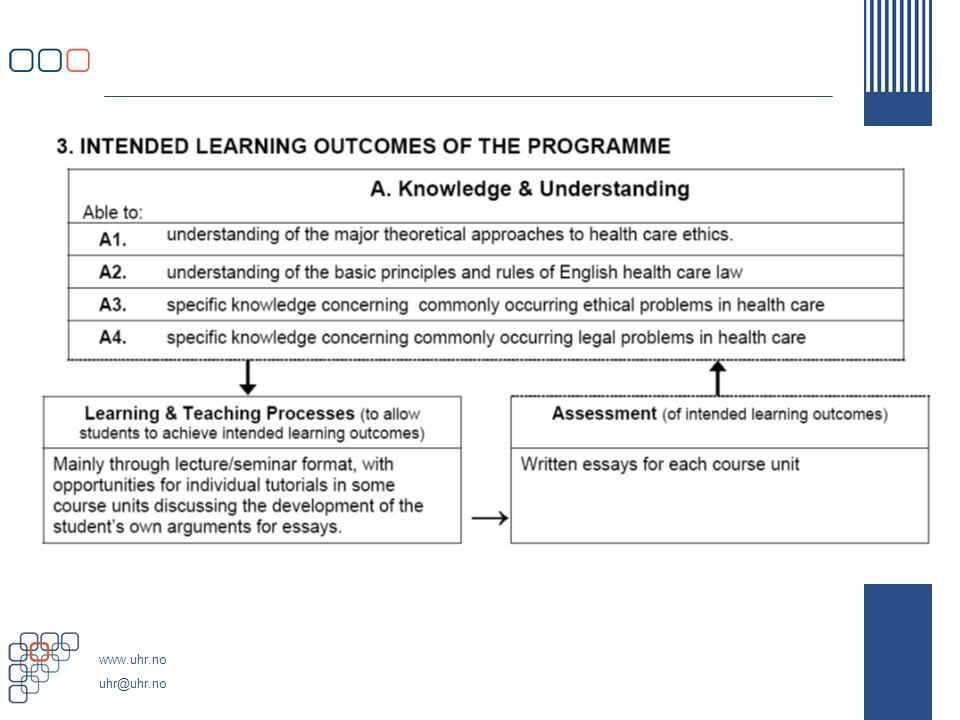 www.uhr.no uhr@uhr.no NRT 13/07 Kvalifikasjonsrammeverk Nivåer(2) Arbeidsgruppas bærende prinsipp om et kvalifikasjons- rammeverk som er strengt orientert om læringsutbytte, er i dag lettest å realisere innenfor 3.