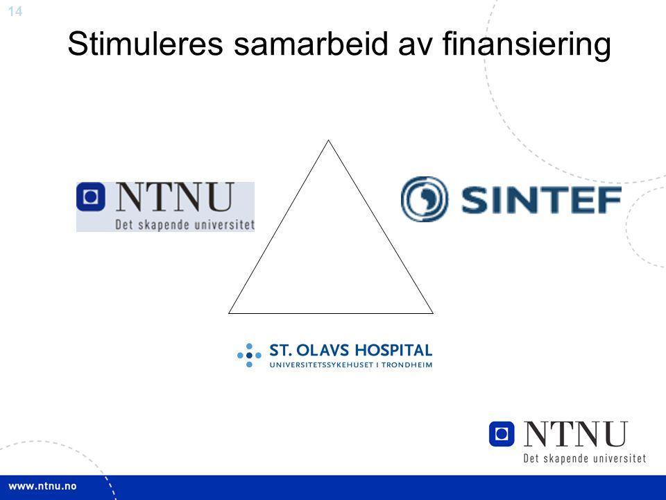 14 Stimuleres samarbeid av finansiering