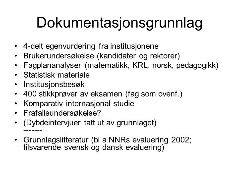 Data fra eksamen, original og resensur Norsk