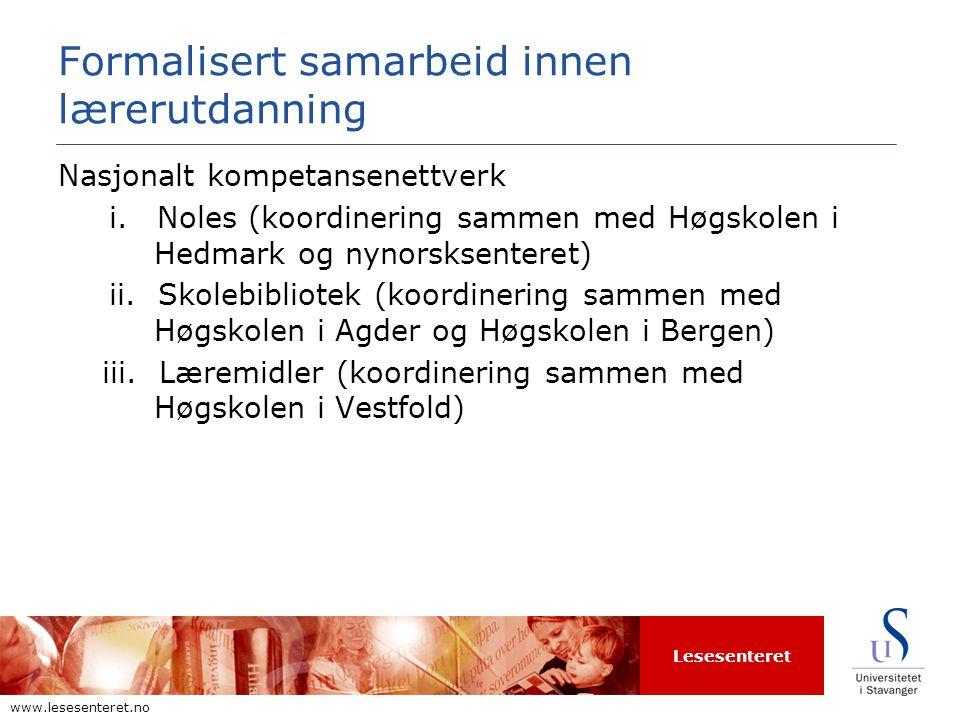 Lesesenteret www.lesesenteret.no UiS a.Undervisning og veiledning i.