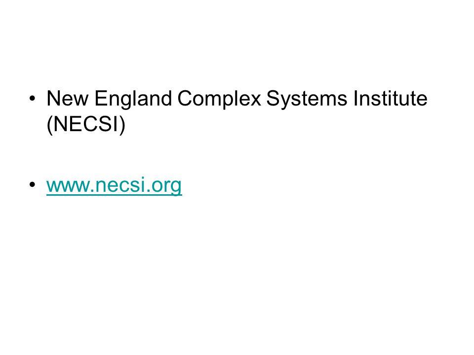 New England Complex Systems Institute (NECSI) www.necsi.org