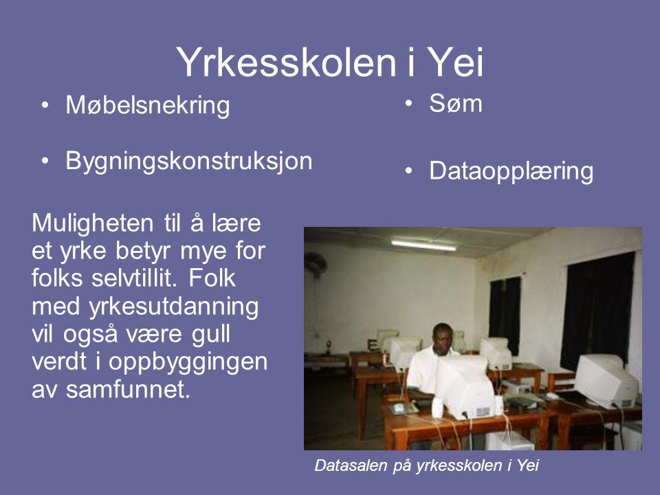 Yrkesskolen i Yei Møbelsnekring Bygningskonstruksjon Søm Dataopplæring Muligheten til å lære et yrke betyr mye for folks selvtillit. Folk med yrkesutd