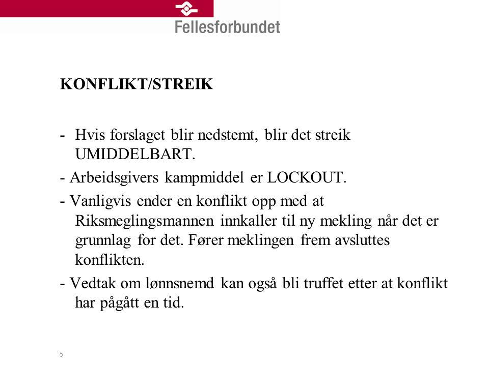 5 KONFLIKT/STREIK -Hvis forslaget blir nedstemt, blir det streik UMIDDELBART.