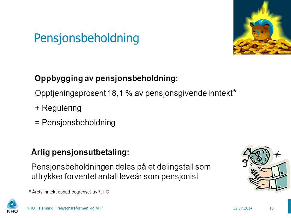 Delingstall – for opptjening etter ny modell Delingstall uttrykker forventet antall leveår som pensjonist Delingstall avhenger av to hovedfaktorer: 1.Levealdersjustering  Hvor lenge forventes ditt årskull å leve.