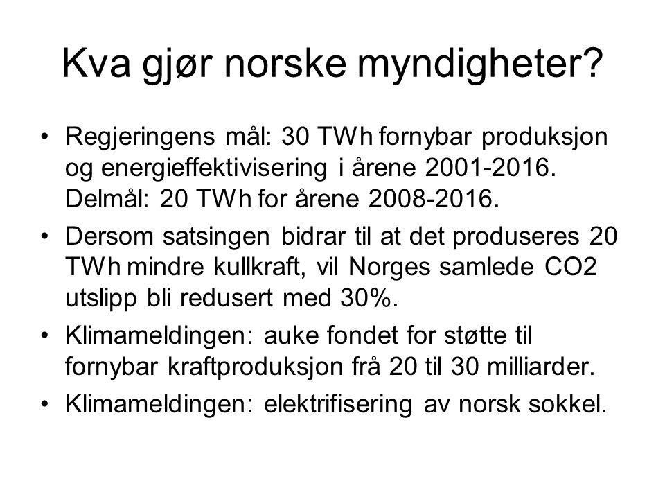 Kva gjør norske myndigheter.