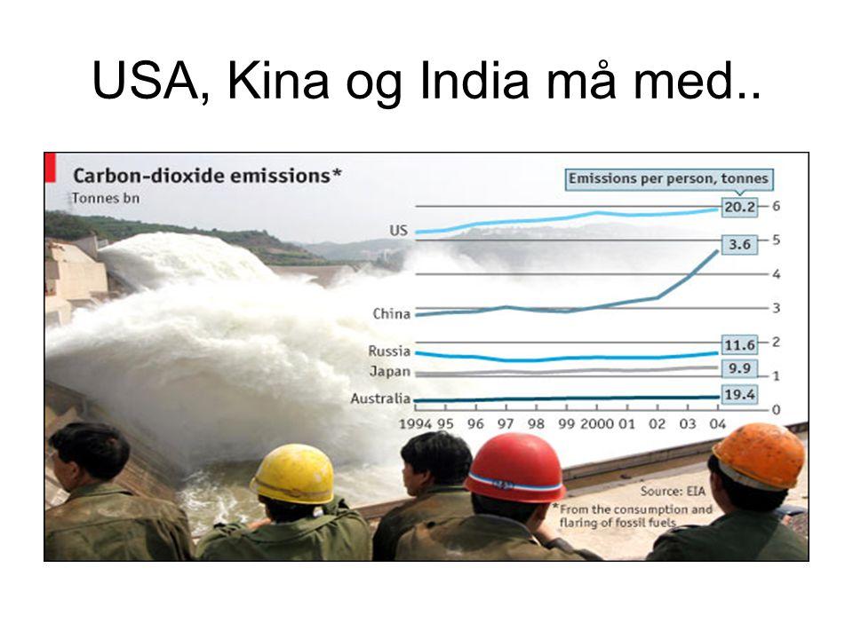 USA, Kina og India må med..