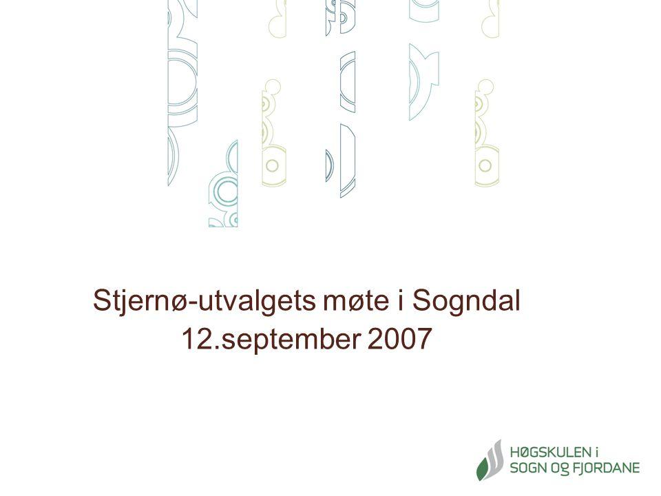 Stjernø-utvalgets møte i Sogndal 12.september 2007