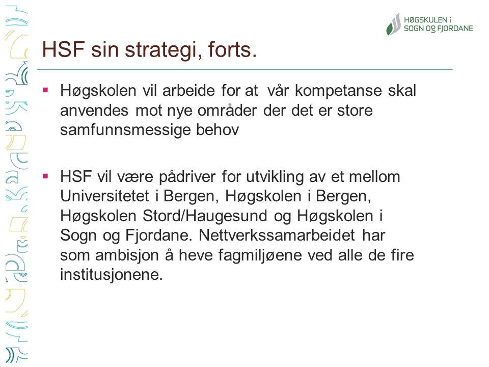 HSF sin strategi, forts.