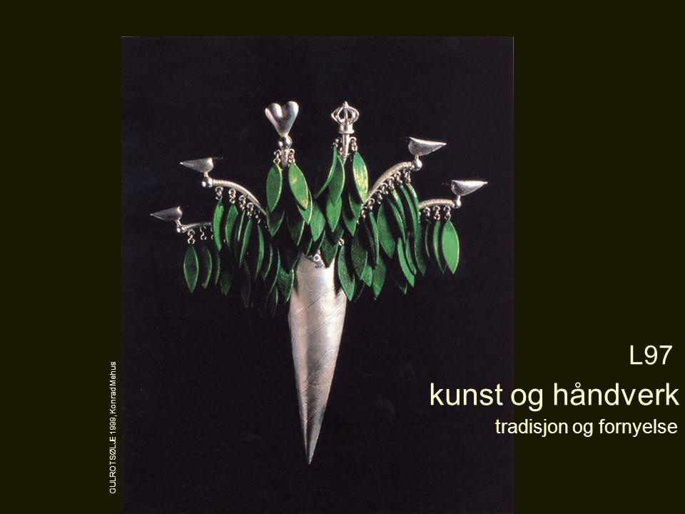 tradisjon og fornyelse L97 kunst og håndverk GULROTSØLJE 1999, Konrad Mehus