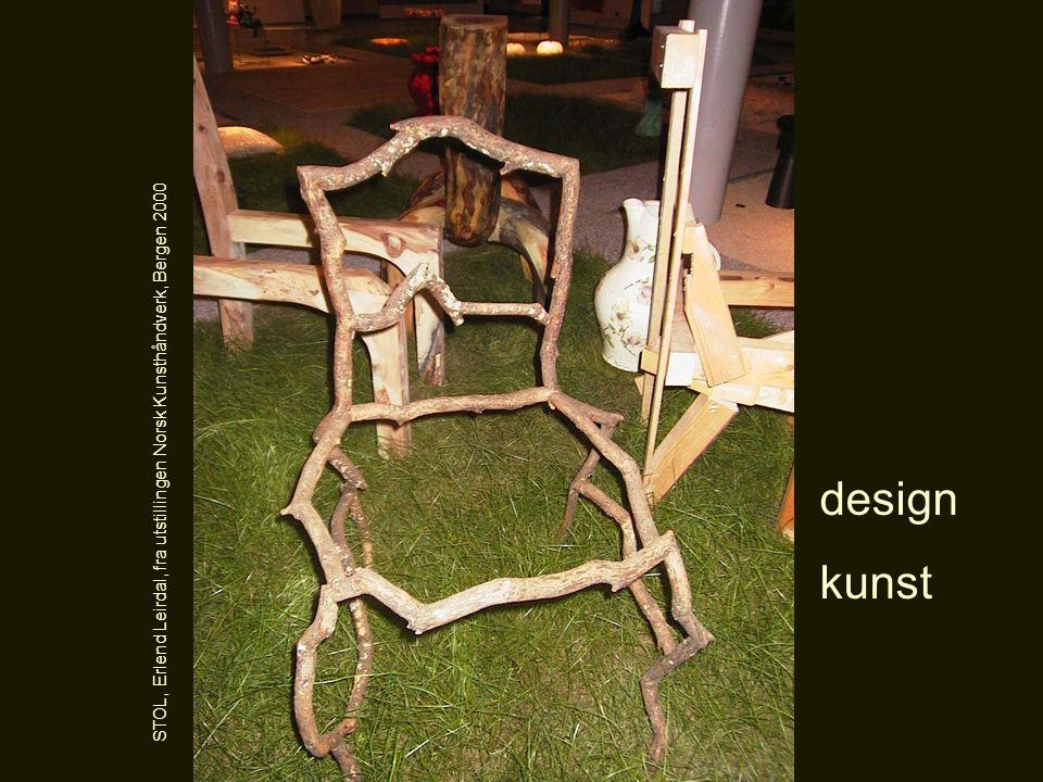 design kunst STOL, Erlend Leirdal, fra utstillingen Norsk Kunsthåndverk, Bergen 2000
