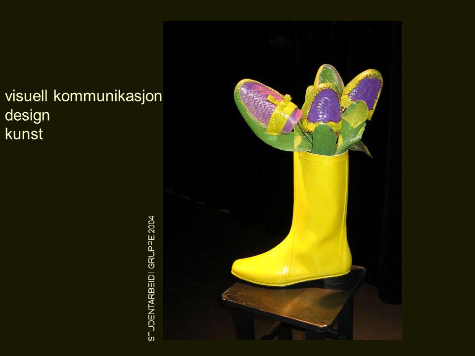 visuell kommunikasjon design kunst STUDENTARBEID I GRUPPE 2004