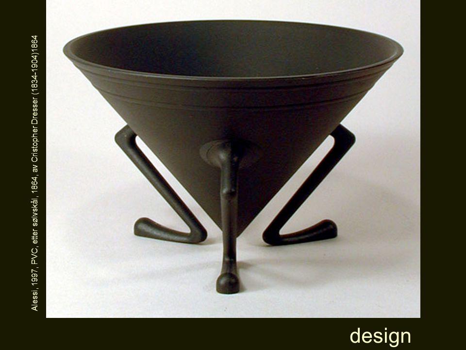 design Alessi, 1997, PVC, etter sølvskål, 1864, av Cristopher Dresser (1834-1904)1864