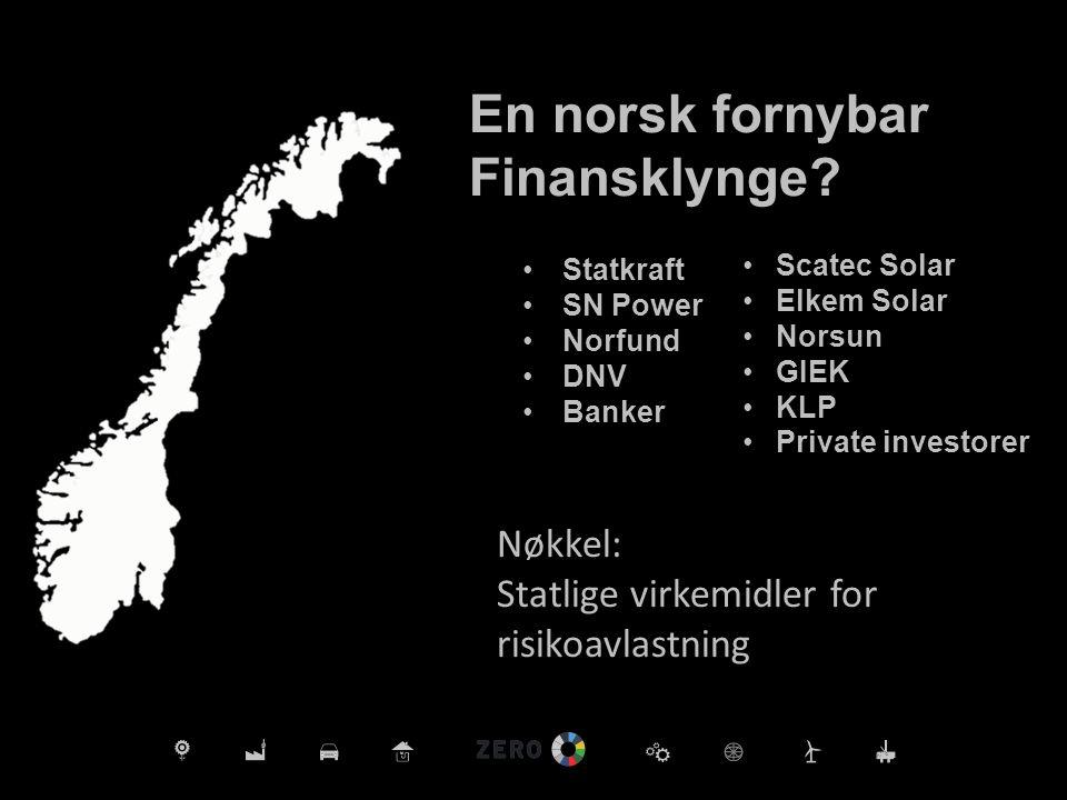En norsk fornybar Finansklynge.
