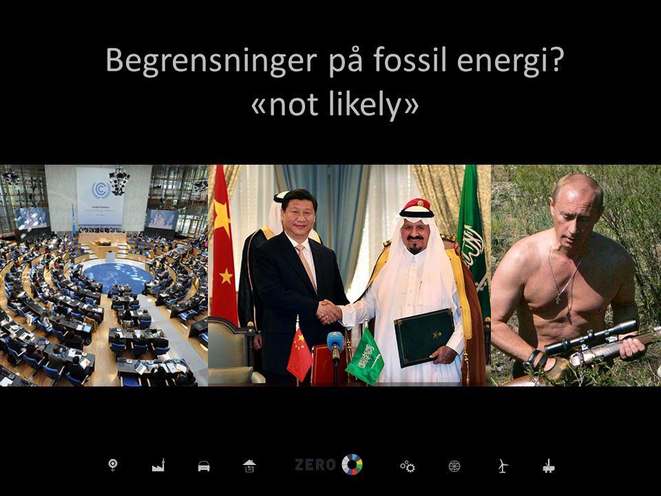 Begrensninger på fossil energi «not likely»