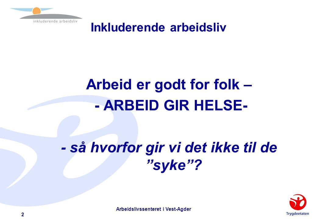 Inkluderende arbeidsliv - et arbeidsliv for alle som kan og vil - Landsmøte Norske Husøkonomers Forbund Clarion Ernst Hotell Kristiansand 28. 03.03