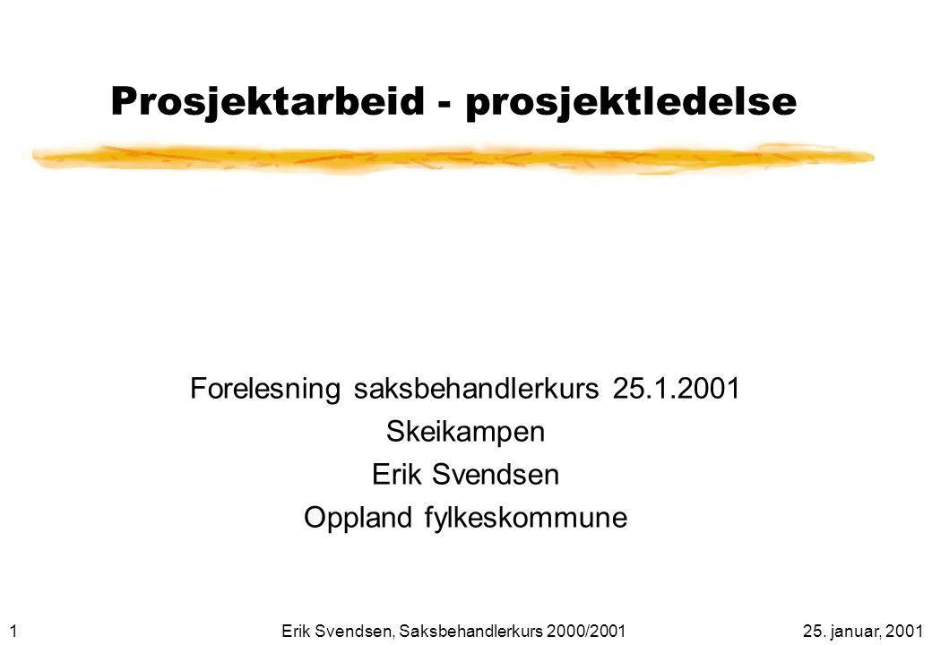 2225. januar, 2001Erik Svendsen, Saksbehandlerkurs 2000/2001