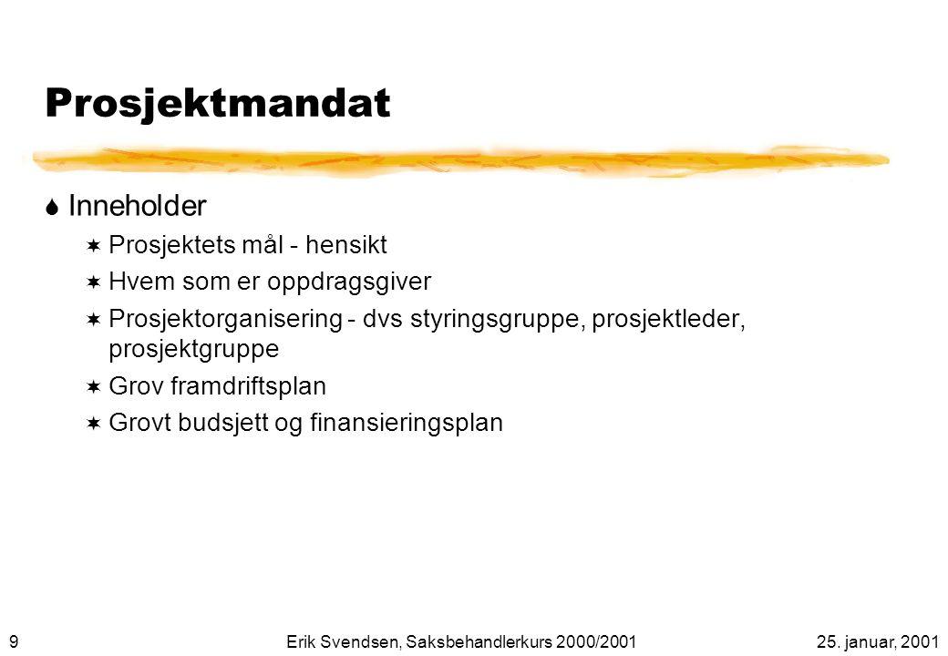 2025. januar, 2001Erik Svendsen, Saksbehandlerkurs 2000/2001