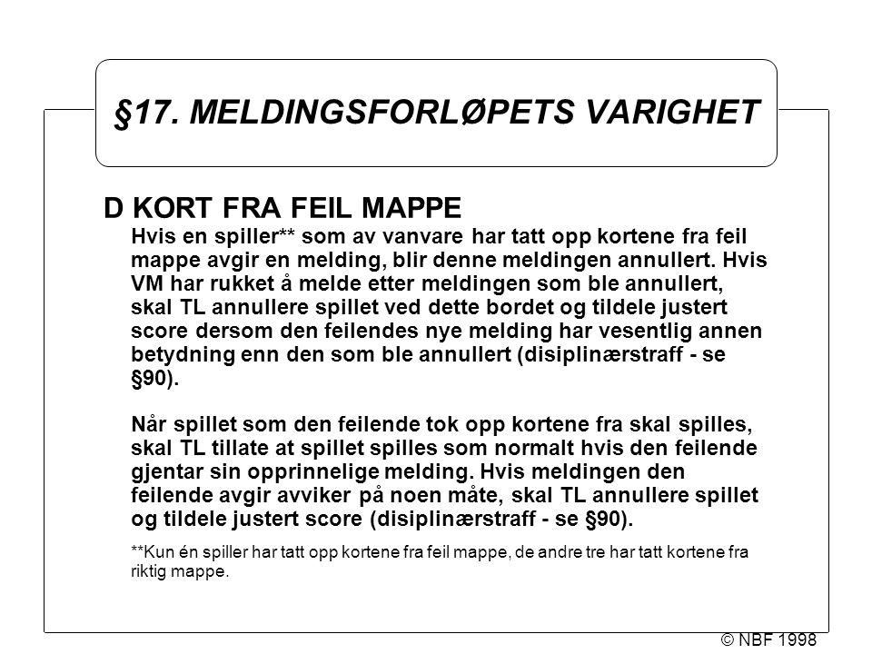 © NBF 1998 §17.