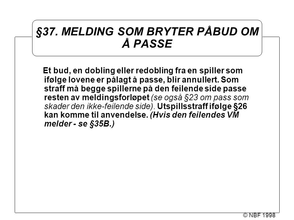 © NBF 1998 §37.
