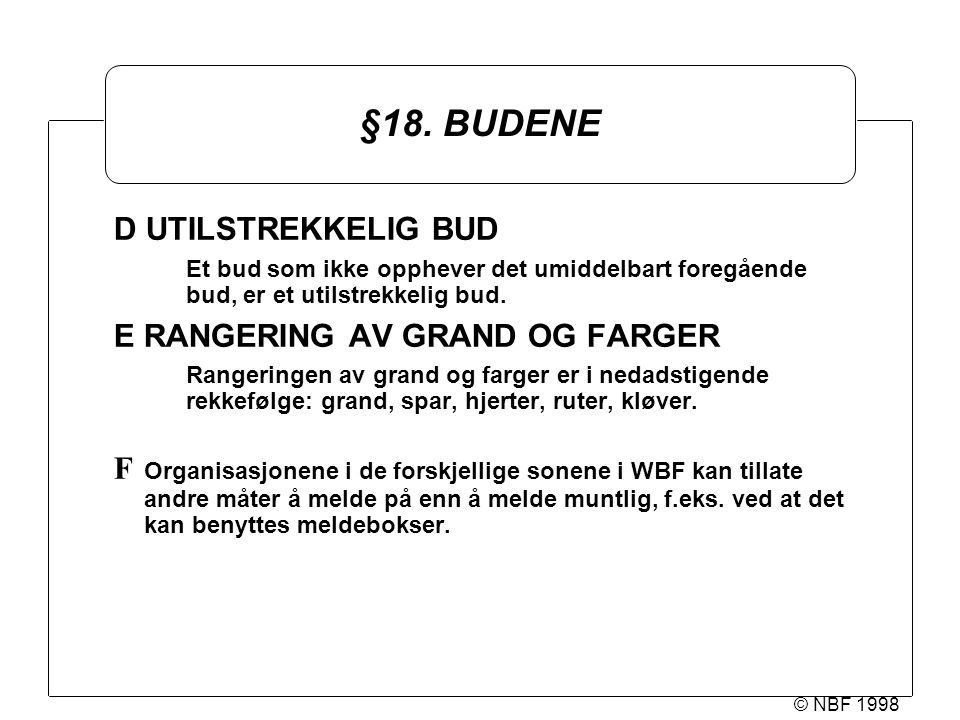 © NBF 1998 §18.