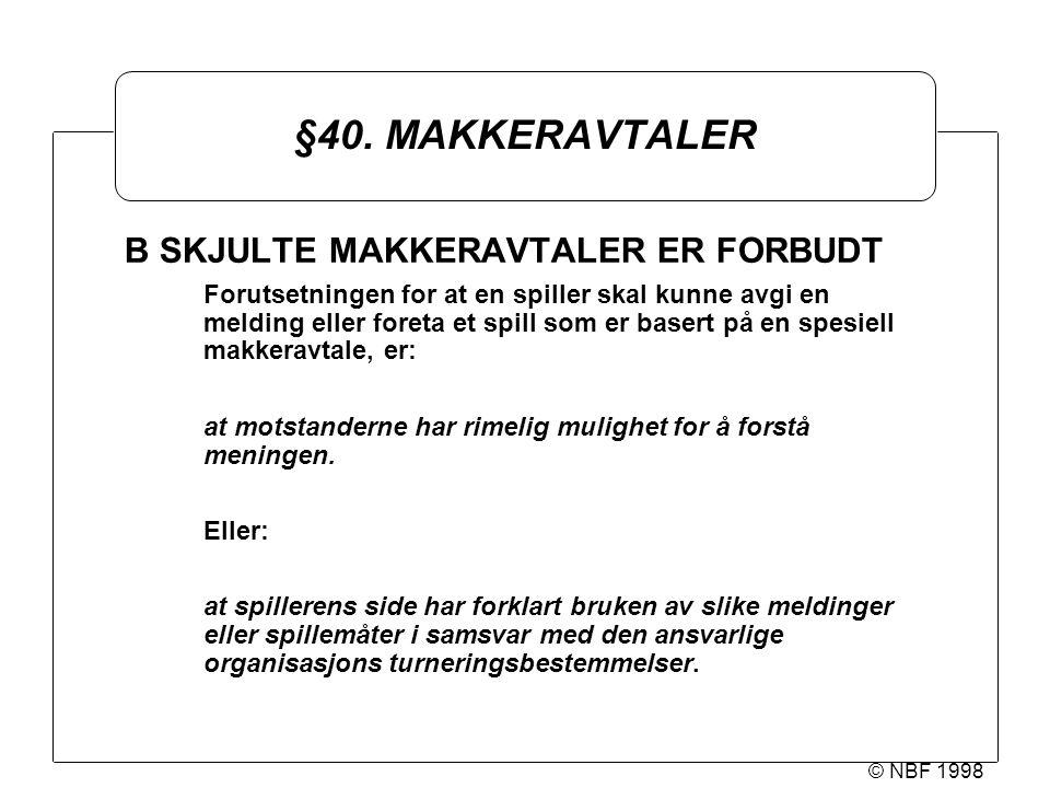© NBF 1998 §40.