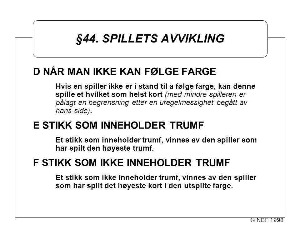 © NBF 1998 §44.