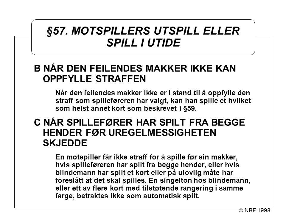 © NBF 1998 §57.
