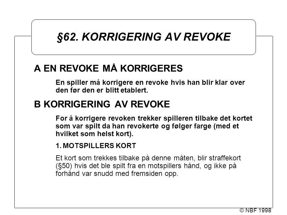 © NBF 1998 §62.