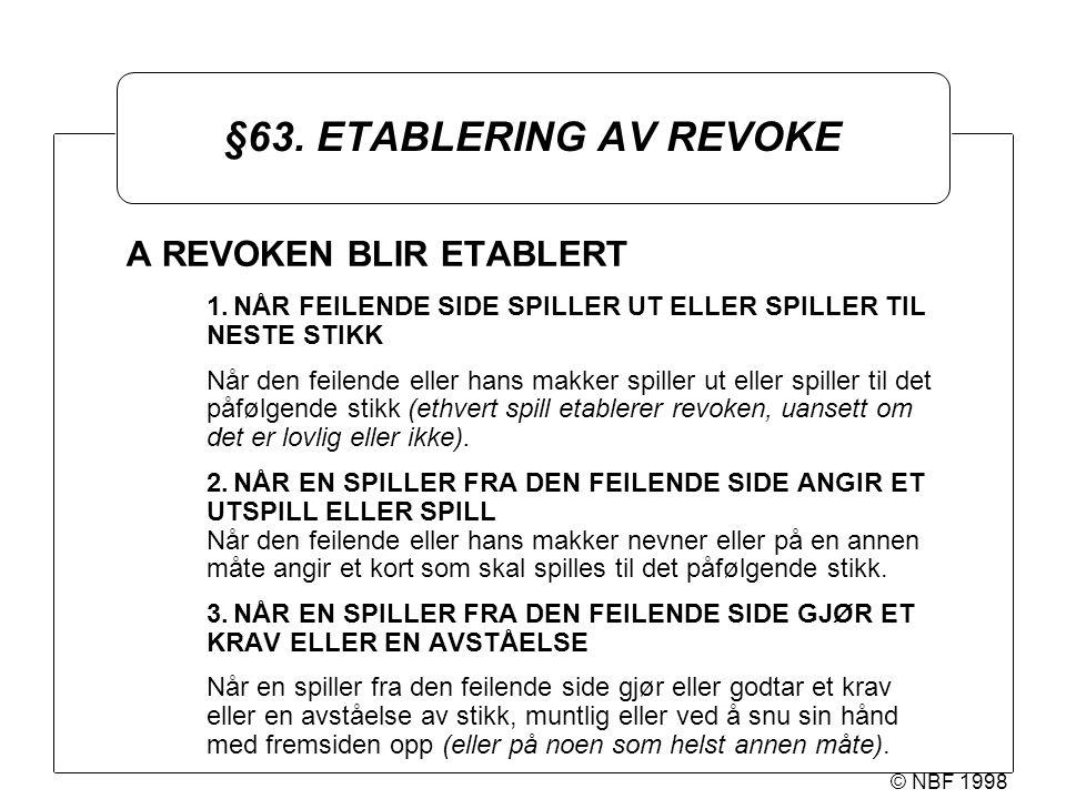 © NBF 1998 §63.