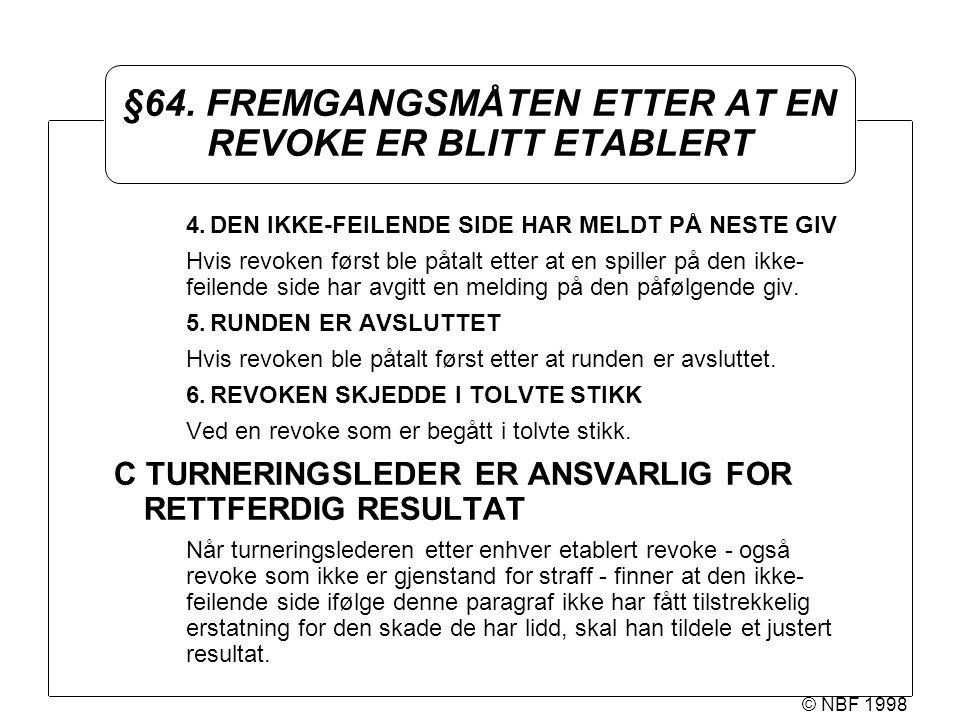 © NBF 1998 §64.