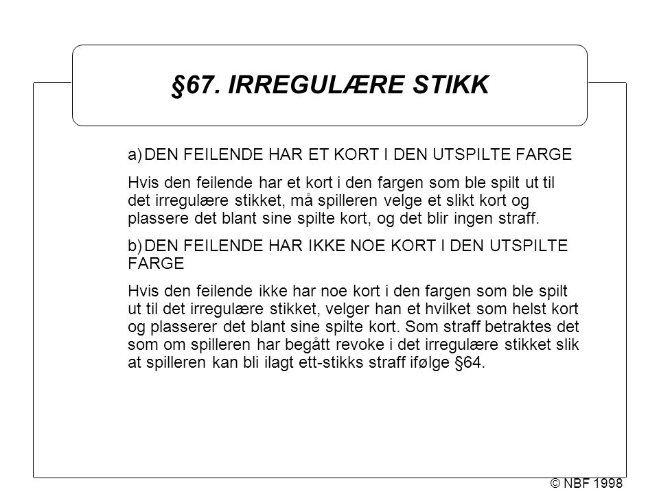 © NBF 1998 §67.