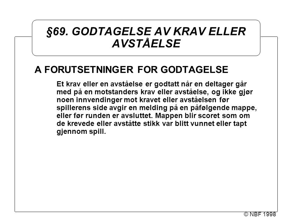 © NBF 1998 §69.