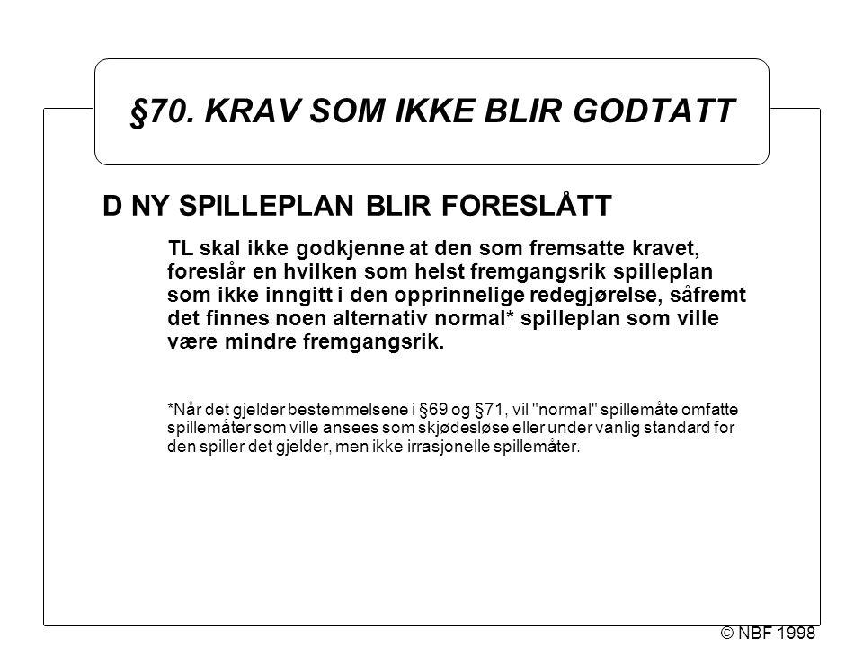 © NBF 1998 §70.