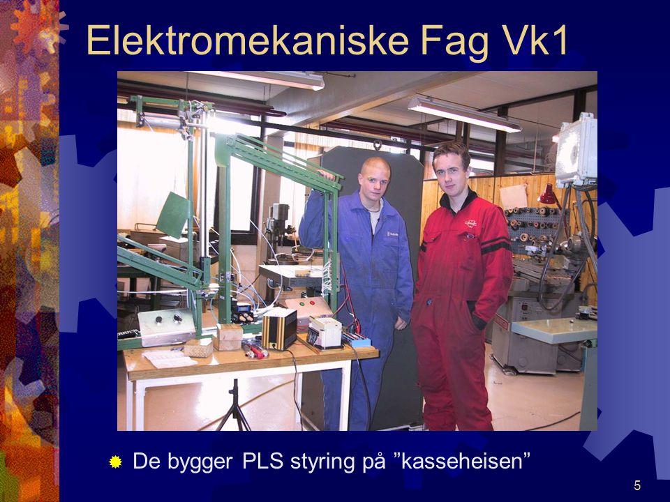 4 Elektromekaniske Fag Vk1 SStyringsteknikk – automatisering er et spennende fag. TTommy og Stig studerer og lager PLS program. Nordhordland vid.