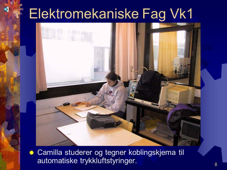 7 Elektromekaniske Fag Vk1 GGisle feilsøker og skal reparere kjølevannspumpe på planslipemaskin. Nordhordland vid. skule