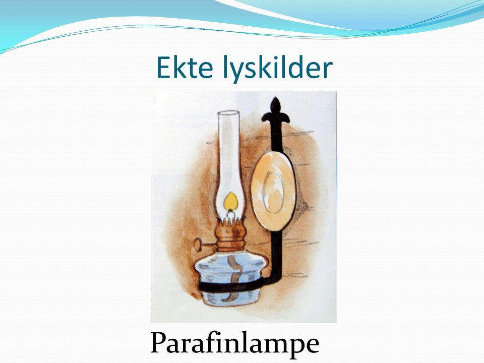 Ekte lyskilder Parafinlampe