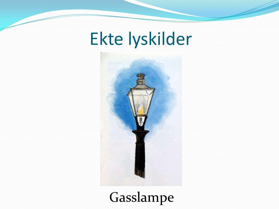 Ekte lyskilder Glødelampe
