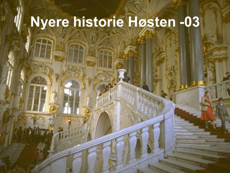 Nyere historie Høsten -03