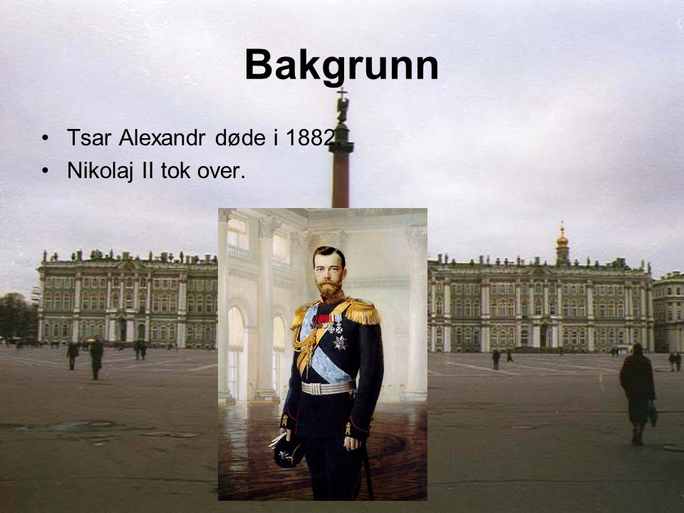 Bakgrunn Tsar Alexandr døde i 1882.