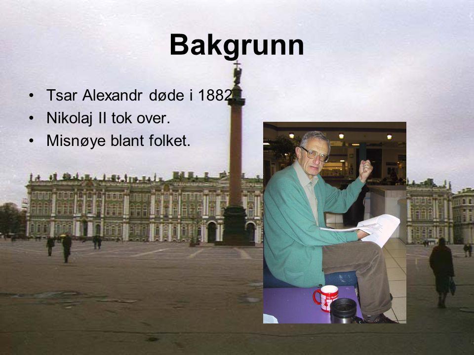 Tsar Alexandr døde i 1882. Nikolaj II tok over. Misnøye blant folket.