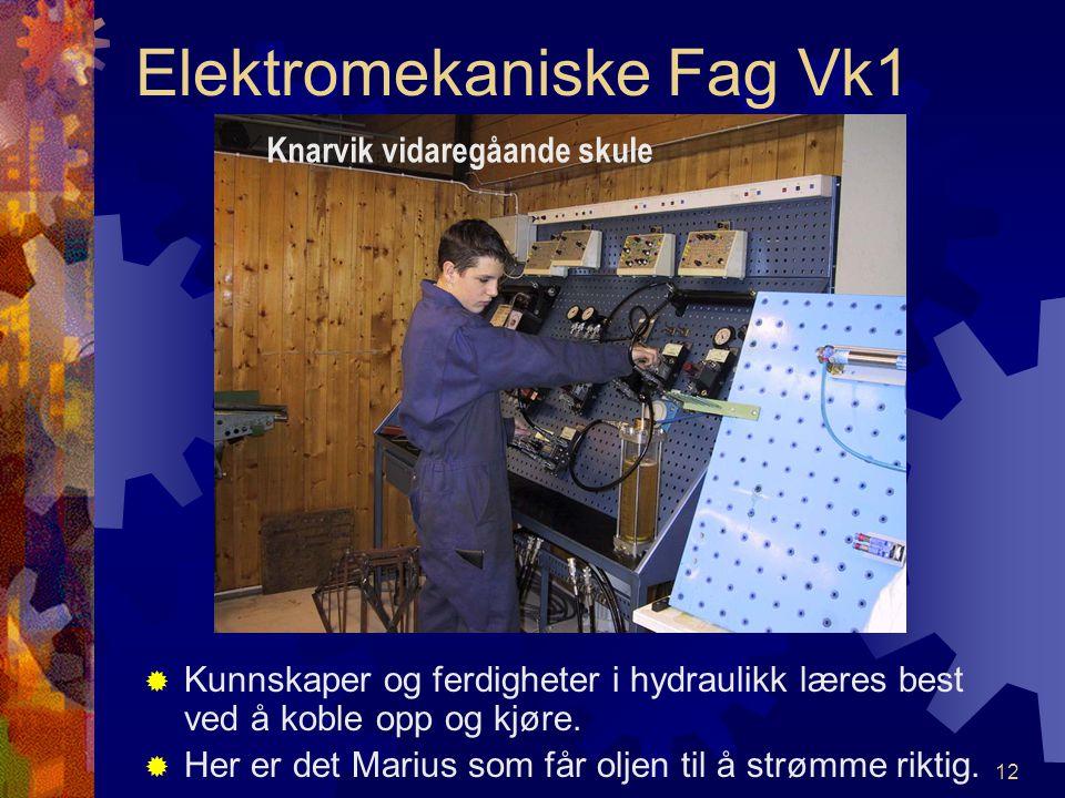 11 Elektromekaniske Fag Vk1 ÅÅ dreie kilereimskive er ikke så helt enkelt FFrode og Remi finner ut av problemene. Knarvik vidaregåande skule