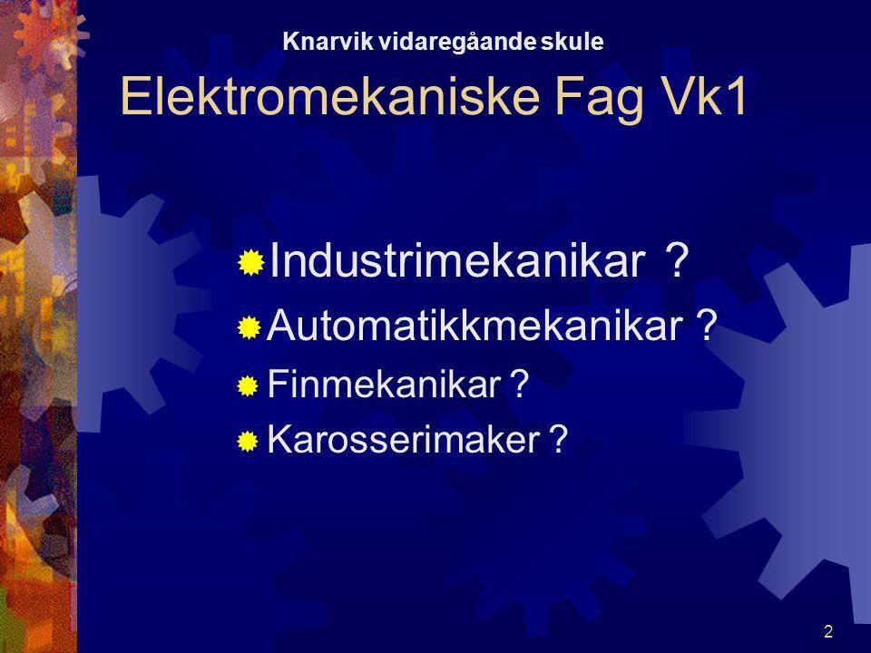 12 Elektromekaniske Fag Vk1 KKunnskaper og ferdigheter i hydraulikk læres best ved å koble opp og kjøre.