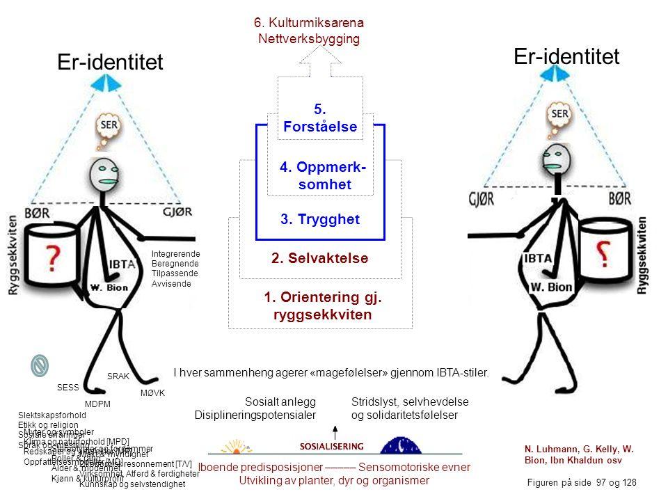 Kulturanalyse: Samdhandlingsidentiteter & kulturstiler Er- identitet Gjør- Bør- Ser- Selvforståelse: Hver av oss har 4 identiteter (JSGB) og 4 stiler (IBTA).