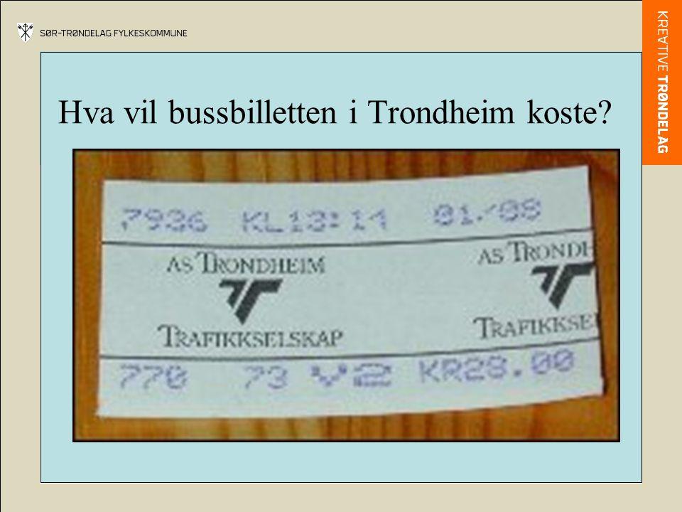 Hva vil bussbilletten i Trondheim koste?